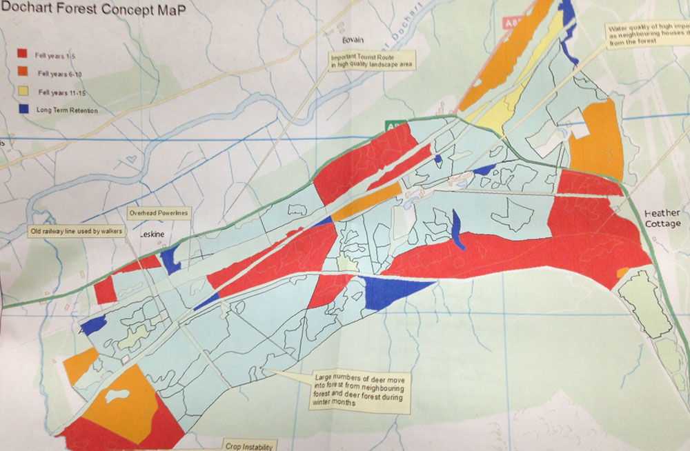 Forestry felling plans for the Killin area