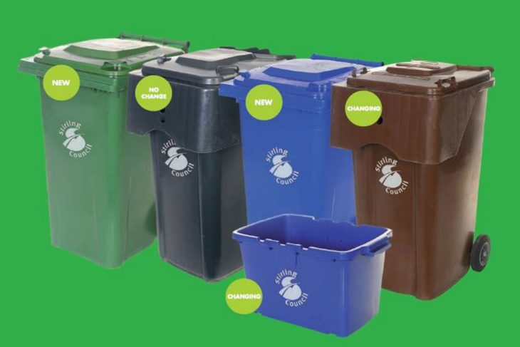 Temporary bin collection timetable
