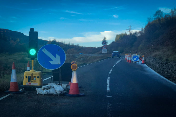 Glen Ogle traffic lights update